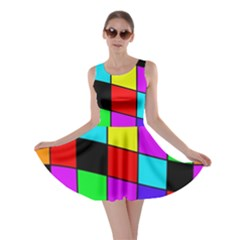 Colorful cubes  Skater Dress