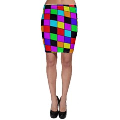 Colorful cubes  Bodycon Skirt