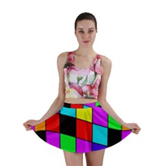 Colorful cubes  Mini Skirt