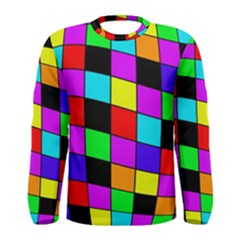 Colorful cubes  Men s Long Sleeve Tee
