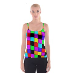 Colorful cubes  Spaghetti Strap Top