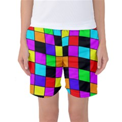 Colorful cubes  Women s Basketball Shorts