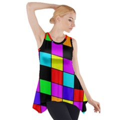 Colorful cubes  Side Drop Tank Tunic