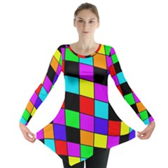 Colorful cubes  Long Sleeve Tunic
