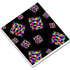 Flying  colorful cubes Small Memo Pads