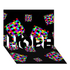 Flying  colorful cubes HOPE 3D Greeting Card (7x5)