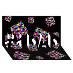 Flying  colorful cubes #1 DAD 3D Greeting Card (8x4)