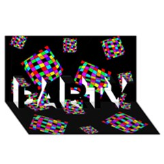 Flying  colorful cubes PARTY 3D Greeting Card (8x4)