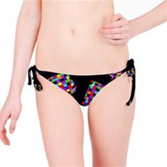 Flying  colorful cubes Bikini Bottom