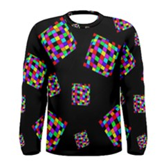 Flying  colorful cubes Men s Long Sleeve Tee
