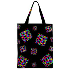 Flying  colorful cubes Zipper Classic Tote Bag