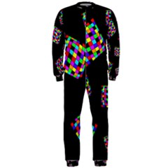 Flying  colorful cubes OnePiece Jumpsuit (Men)