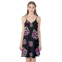 Flying  colorful cubes Camis Nightgown
