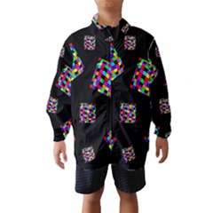Flying  Colorful Cubes Wind Breaker (kids)