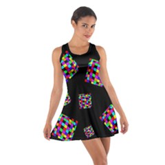 Flying  colorful cubes Racerback Dresses