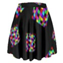 Flying  colorful cubes High Waist Skirt View2
