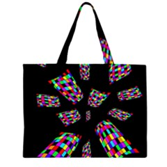 Colorful abstraction Zipper Large Tote Bag