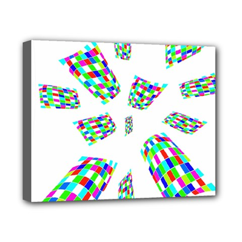 Colorful abstraction Canvas 10  x 8