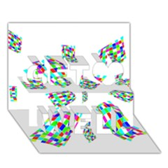 Colorful abstraction Get Well 3D Greeting Card (7x5)