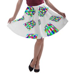 Colorful abstraction A-line Skater Skirt