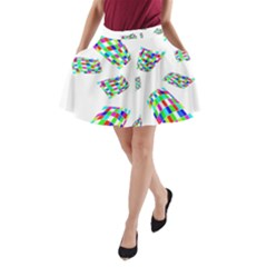 Colorful abstraction A-Line Pocket Skirt