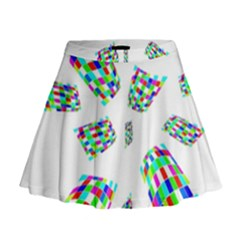 Colorful Abstraction Mini Flare Skirt