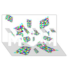 Colorful abstraction MOM 3D Greeting Card (8x4)