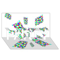 Colorful abstraction PARTY 3D Greeting Card (8x4)