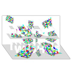 Colorful abstraction Best Wish 3D Greeting Card (8x4)