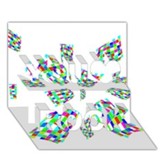 Colorful abstraction You Rock 3D Greeting Card (7x5)