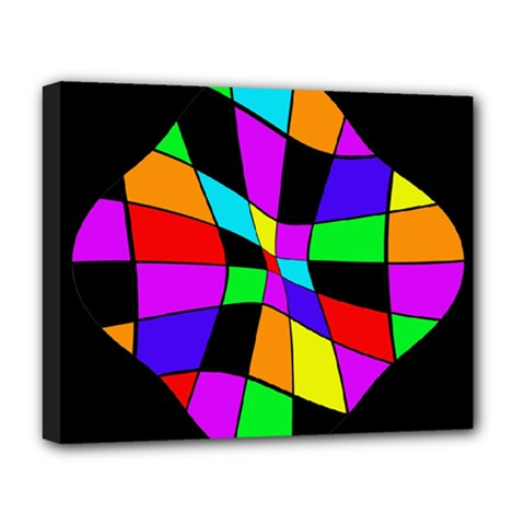 Abstract colorful flower Deluxe Canvas 20  x 16