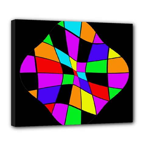 Abstract colorful flower Deluxe Canvas 24  x 20