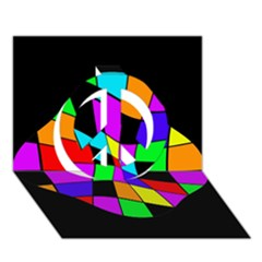 Abstract colorful flower Peace Sign 3D Greeting Card (7x5)