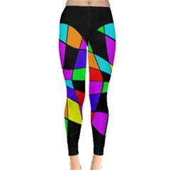 Abstract colorful flower Leggings
