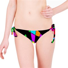 Abstract colorful flower Bikini Bottom