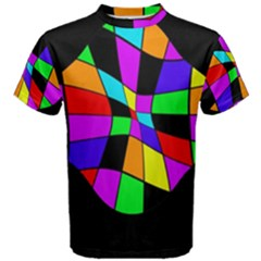 Abstract colorful flower Men s Cotton Tee