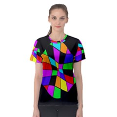 Abstract colorful flower Women s Sport Mesh Tee