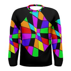Abstract colorful flower Men s Long Sleeve Tee