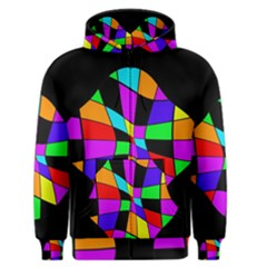 Abstract colorful flower Men s Zipper Hoodie