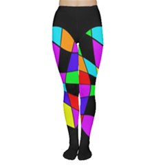 Abstract colorful flower Women s Tights