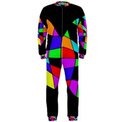 Abstract colorful flower OnePiece Jumpsuit (Men)