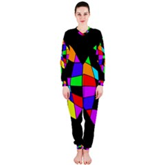 Abstract colorful flower OnePiece Jumpsuit (Ladies)