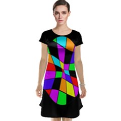 Abstract colorful flower Cap Sleeve Nightdress