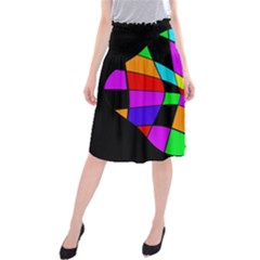 Abstract Colorful Flower Midi Beach Skirt