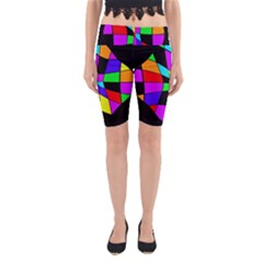 Abstract Colorful Flower Yoga Cropped Leggings