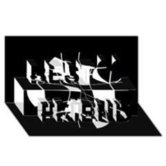 Black and white abstract flower Best Friends 3D Greeting Card (8x4)