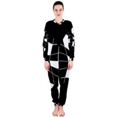 Black and white abstract flower OnePiece Jumpsuit (Ladies)