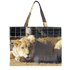 FeMale Lion Large Tote Bag