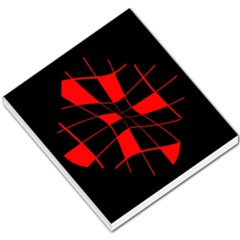 Red abstract flower Small Memo Pads