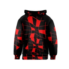 Red abstract flower Kids  Pullover Hoodie